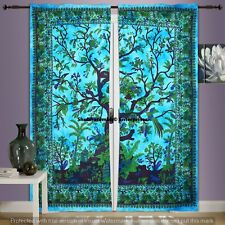Handmade Cotton Room Drapery Throw Wall Hangings Indian Curtains Tapestry Sheer
