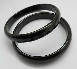 Natural Gemstone Black Onyx Bangles Handmade Cuff Bangle 66 mm Round Faceted 1pc
