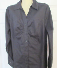 LANE BRYANT Long Sleeve Top - Button down - Black - Size 16 - Lovely Top/Blouse