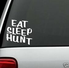 D1079 EAT SLEEP HUNT DECAL STICKER Car Truck SUV Van Gun Hunting Scope DeerStand