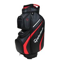 TaylorMade Deluxe Cart Bag - Black / Red