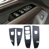 Carbon Accessories Window Lift Switch Button Panel Cover For Cadillac CT4 2020+
