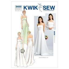KWIK SEW SEWING PATTERN MISSES' WEDDING EVENING PROM DRESS GOWN & BOLERO K3400