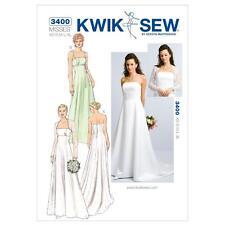 KWIK SEW SEWING PATTERN MISSES' WEDDING EVENING PROM DRESS GOWN & BOLERO K3400