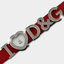 DOLCE&GABBANA Armbanduhr Damen Uhr Markenuhr I LOVE D&G Lederband Rot 3719251684