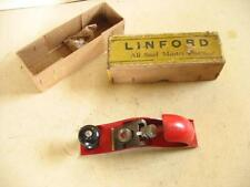 "RARE PATENTED PLANE, ""LINFORD, BIRMINGHAM"" - MINT IN BOX, SMALL SMOOTHER"