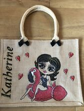 PERSONALISED LARGE HAND PAINTED JUTE BAG GIFT 16TH 21ST 30TH