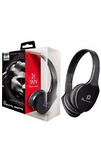 NEW Mental Beats 696 Over the ear  Dj Skin HeadPhone Head Phones with mic Black