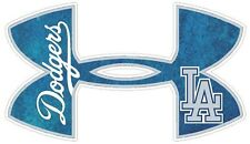 Los Angeles Dodgers Baseball Under Armour Truck/Window Decal Sticker - Set of 3
