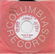 PAUL REVERE AND THE RAIDERS  Peace Of Mind  rare promo 45 from 1967