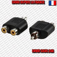1 Mâle - 2 femelle Adaptateur Y Splitter RCA Audio Câble Jack Stereo