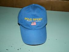 Polo Sport Ralph Lauren Hat Blue Logo Dad Hat Strapback USA Flag Cap