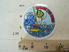 STICKER,DECAL BP SMURF THE SURF,SMURFS,SCHLUMPHE,LES SCHROUMPFS,PUFFI,PITUFOS A