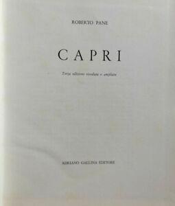 ROBERTO PANE CAPRI ARCHITETTURA ARTE VEDUTE STAMPE FOTO B/N GALLINA EDITORE MARE