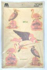 Vintage Meyercord Decals Transfers #297-A Flamingo Stork Birds 1979