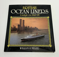 British Ocean Liners by William H. Miller (1986, Hardcover)