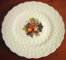 Copeland Spode Luncheon Plate Ring 9¼ Fruit Bouquet Embossed Daisies England #2
