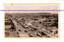 TOOWOOMBA QLD  c. 1920s RPPC View looking north Shops Vehicles BUSES  Australia