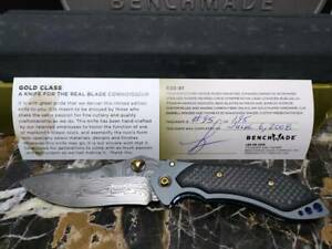 BENCHMADE KNIVES 635-81 Mini-Skirmish 095/200 Gold class