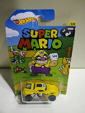 HOT WHEELS SUPER MARIO RD-08 WARIO DJK74 MATTEL SCALA 1/64 -3/8- NUOVO