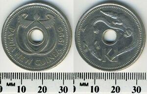 Papua New Guinea 1999 - 1 Kina Copper-Nickel Coin - Crocodiles flank center hole