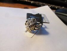 John Hardy ring mixed media sterling silver 18K yellow gold size 7 new