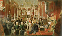 """oil painting """"  The coronation of Emperor Pedro I of Brazil in 1822"""""""
