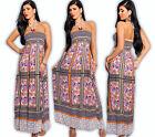 Maxi Dress Paisley Bandeau Dress Boohoo Ethno Pleats Skirt Empire Hippie OML