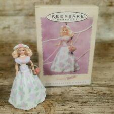 More details for vintage barbie hallmark 1995 easter collection keepsake tree hanger ornament
