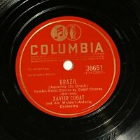 Xavier Cugat and His Waldorf Astoria Orch Columbia 78 rpm - Brazil / Chiu-Chiu