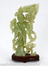 Grande Antica Statua in giada '900 Cina periodo Qing Ancient Old Jade Sculpture