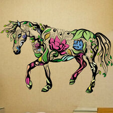 Colorful Horse Wall Sticker Mural Art Wallpaper 3D Decal Decor For Living Room