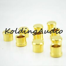 10Pcs RCA Cap protector dust proof Brass Gold Plated Audiophile Shielding Caps
