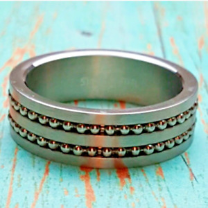 Men's Stainless Steel Bikers Band  Ring Sizes 8,11,12,13Industrial