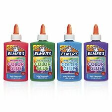 Elmer's Washable Color Glue,Assorted Colors,5 Ounces,4 Count,Great for SLIME KID