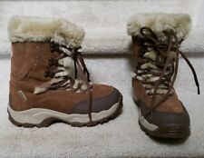 Womens Snow Boots HI-TEC St. Moritz Brown Thinsulate  Thermo-Dri SZ 11- Mint