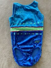 Alpha Factor Gymnastics Leotard CSM Child Small Blue Velvet