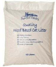 cat Litter 15 Litres Bags Made From Virgin Wood into Pellets Purrfect Pellets