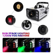 1200W Fog Smoke Machine DJ Stage Fogger Effect RGB 6LED Lighting Remote Control