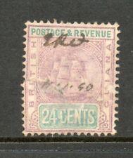 BRITISH GUIANA # 142, / 4-20d /,used pen cancel