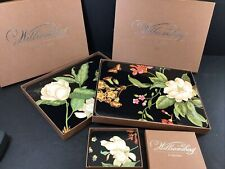 Williamsburg Garden Images Placemats Cork 11 Medium  And Matching Coasters 5 NIB