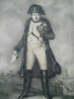 Lithographie rare Napoléon gravure grand format bataille Eylau JJ Frey
