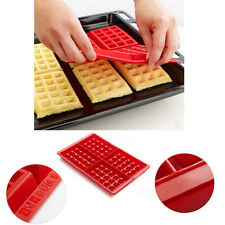 4-Cavity silicon waffle chocolate DIY tray mold maker suit for microwave oven