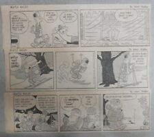 (108) Beetle Bailey Dailies by Mort Walker 1/23-5/29,1967 Size: 3 x 9 inches