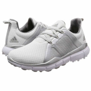 Adidas Climacool Cage WOMENS/GIRLS Shoes White Fitted Golf Trainers RRP £54.99