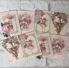 Flower Fairy Card Toppers, Gift Tags Craft Make Your Own Cards Dusky Pink