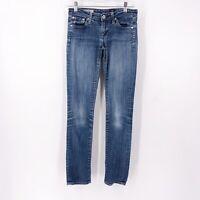 AG Adriano Goldschmied Size 24 The Stilt Cigarette Skinny Jeans Medium Wash