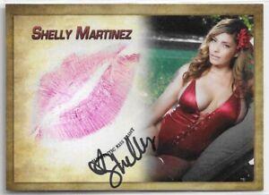 2019 19 CE LLC SHELLY MARTINEZ AUTOGRAPH AUTO KISS CARD WWE DIVA TNA BENCHWARMER