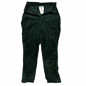 Vintage Moschino Leather Pants Green W26 L27 Trousers Pret a Porter