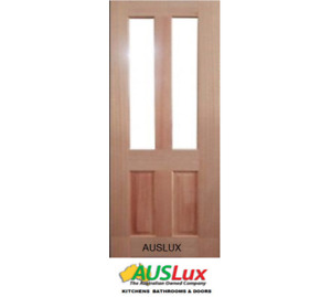 Venus 2 glass solid timber house door many sizes